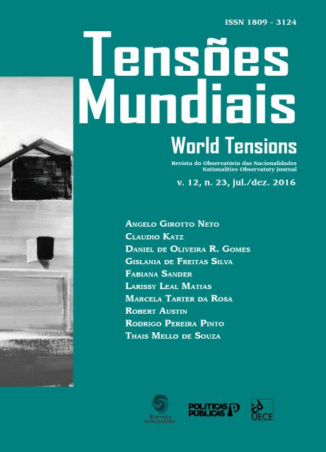 Visualizar v. 12 n. 23 (2016): Tensões Mundiais