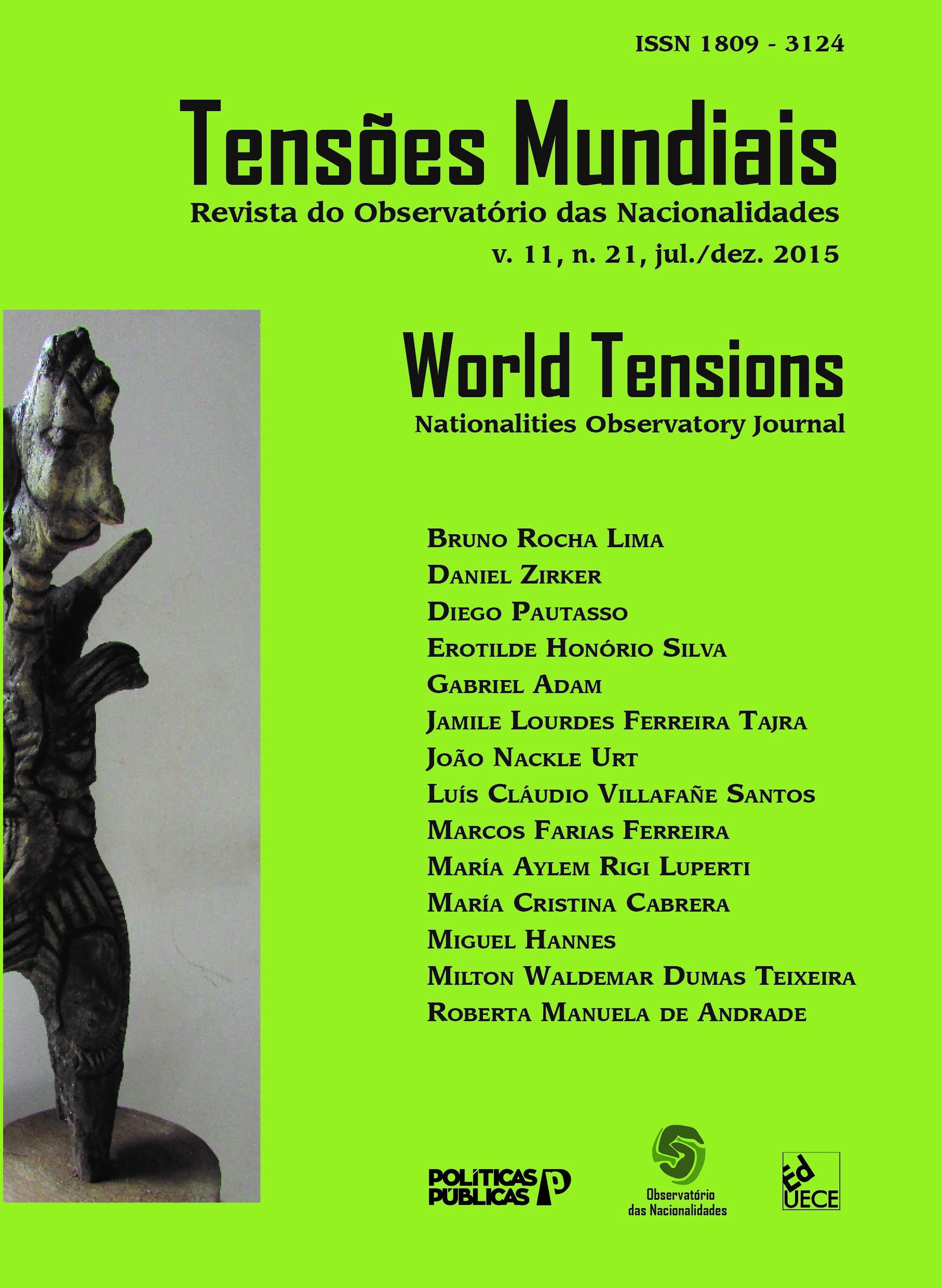 Visualizar v. 11 n. 21 (2015): Tensões Mundias
