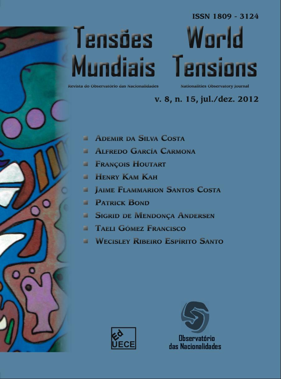Visualizar v. 8 n. 15 (2012): Tensões Mundiais (Edição Temática): Desastres Naturais