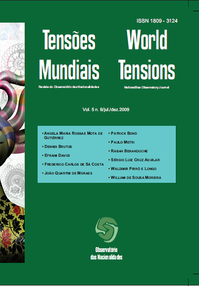 Visualizar v. 5 n. 9 (2009): Tensões Mundiais