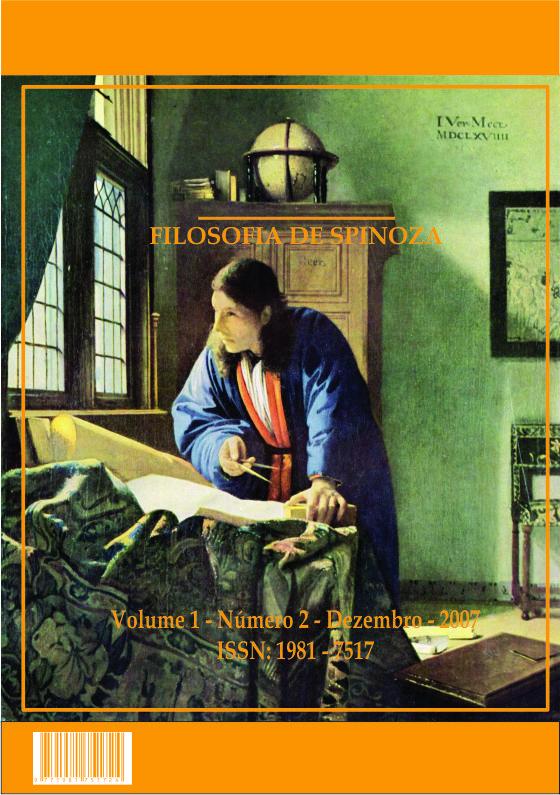 Revista Conatus - Filosofia de Spinoza - V1N2 - Dezembro 2007
